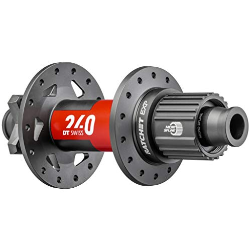 DT Swiss 240 EXP Rear Hub - 12 x 148mm, 6-Bolt Disc, 32h, Micro Spline, Black/Red