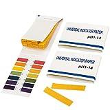 TRIXES Confezione da 2 cartine tornasole pH da 1 a 14 blocchetto da 80 strisce