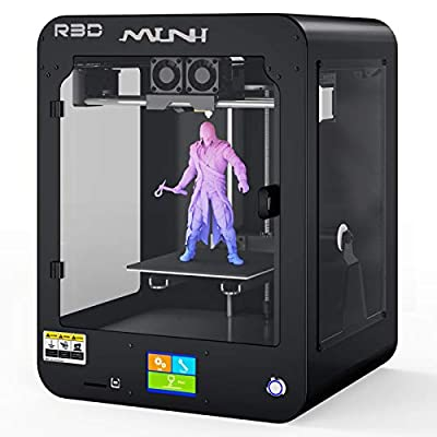 R3D Mini 3D Printer,All-Metal Frame Enclosed Desktop FDM Printers with High Precision,Magnetic Removable Plate,XYZ Construction and Resume Printing,SD & USB Print,Multi-filaments Support