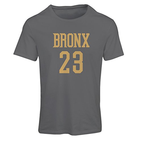 lepni.me Frauen T-Shirt Bronx 23 Freestyle, New York City Sport Stil Mode Kleidung (X-Large Graphit Gold)