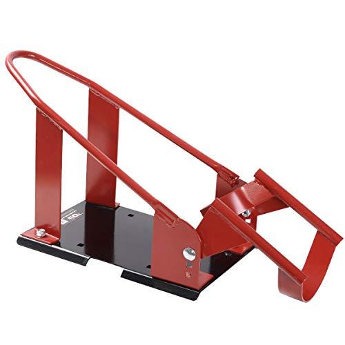 COSTWAY Motorradständer Radhalter Motorradwippe Vorderrad Ständer für Reifendurchmesser von 43cm bis 53,5 cm