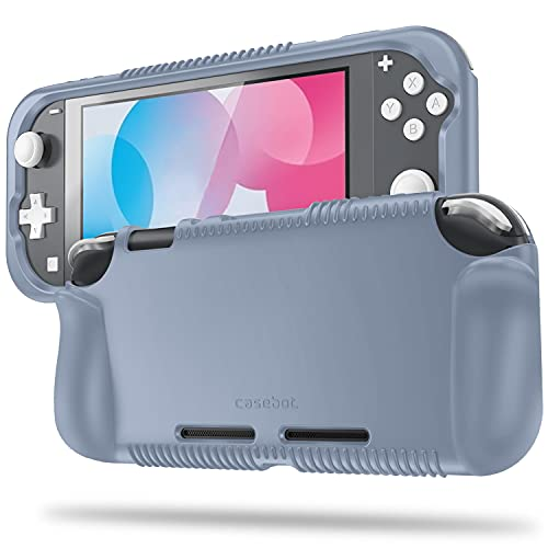 Fintie Case for Nintendo Switch Lite 2019 - Soft Silicone [Shock Proof] [Anti-Slip] Protective Cover with Ergonomic Grip Design for Switch Lite Console (Cloudy Blue)