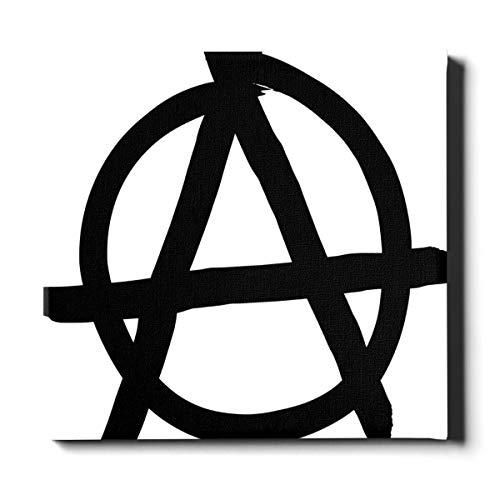 LIANGWE Leinwanddrucke für Männer 20x24 Zoll (50x60 cm) Anarchie-Symbol isoliert auf weißem Bathrrom Wanddekor Leinwand dekorative Malerei geeignet für Wohnkultur