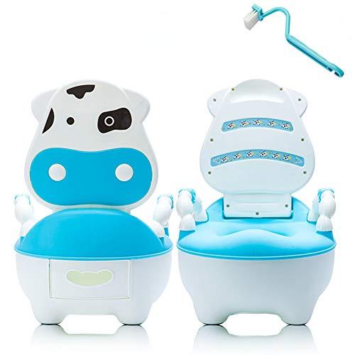 HilMe Vasino per Bambini, Modello Toilette Vasino di Cartone Animato con Spazzola per la Pulizia e Cuscinetto Morbido Rimovibile, Facile da Pulire, per Ragazzi e Ragazze