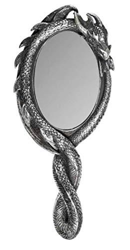 Alchemy Dragons Espejo de Mano con Forma de Dragón Dragon'S Lure - Plateado