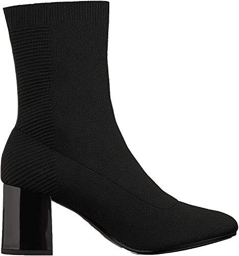 Tommy Hilfiger Damen Knitted Heeled Boot Stiefeletten, Schwarz (Black 990), 40 EU