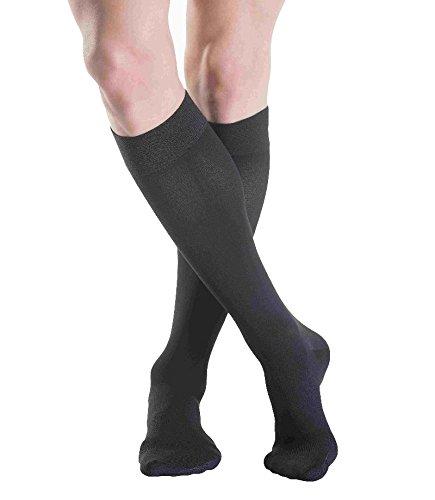 calcetines de compresión sigvaris Algodón–A–calcetines de la rodilla/kkl2/XL Plus/Nature/encaje Cerrado/pantalones cortos/Sin