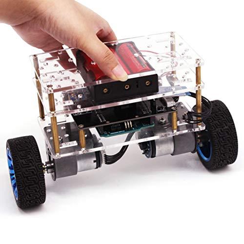 WXJHA Éducation robotique Kit, Équilibre Robot Voiture Compatible avec Éducation Robotique Kit programmable Intelligente Enfants et Adultes