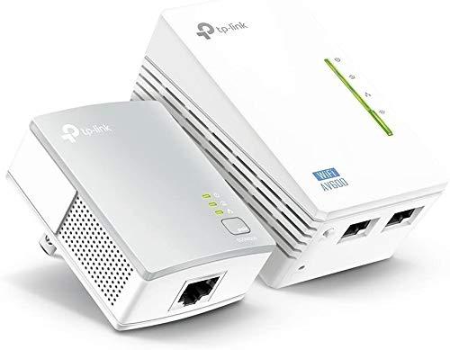 TP-Link AV600 2-Port Powerline Gigabit Wi-Fi Adapter Kit, 2-Kit (TL-WPA4220 KIT) (Renewed)