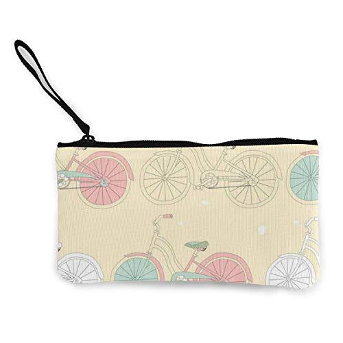 Sin costuras con bicicletas vintage lindo cambio de lona monedero bolsa bolsa...