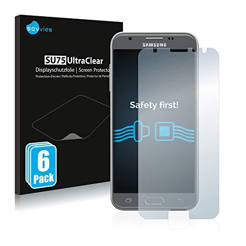 savvies 6-Pezzi Pellicola Protettiva Compatibile con Samsung Galaxy J3 2017 Protezione Schermo Trasparente