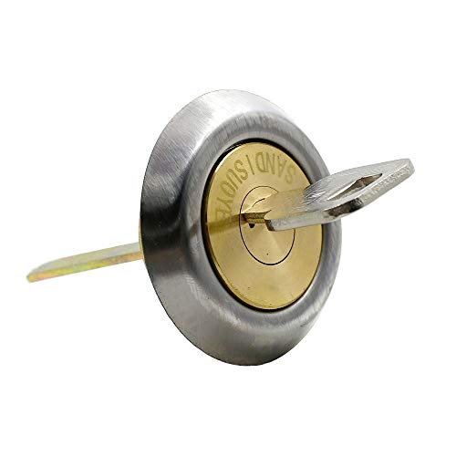 LDEXIN Brass Round Profile Rim & Mortise Cylinder, Locks Replacement Cylinder, Front Door Lock Cylinder with 5 Keys