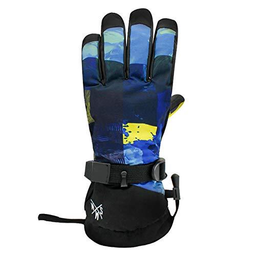 GkDDZH Warme wasserdichte Winter Männer Und Frauen Motorradfahren Snowboarden Thermische Handschuhe Touchscreen Schneehandschuhe, Schneeberg, S
