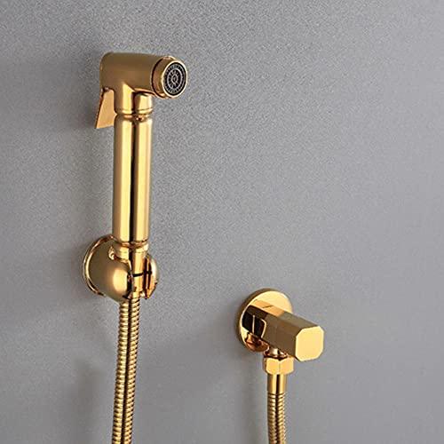Pulverizador Grifo Bidet Portatil para WC Bidé a Presión Multifuncional de Cobre y Oro para Inodoro de Baño Ducha Bidet para Inodoro Wc-D