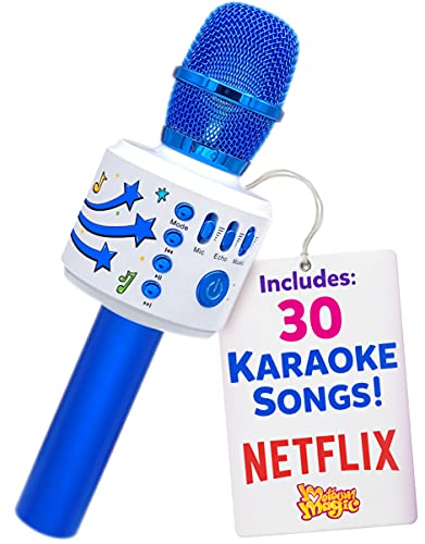 Move2Play Bluetooth & 30 Famous Songs Kids Karaoke Microphone, Gift for Girls Age 4 5 6 7 8 Years Olds