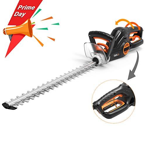 TACKLIFE Taille Haie Électrique, 600W Taille-Haies, Longueur de Lame 550 mm, Ouverture des Dents 20 mm,...