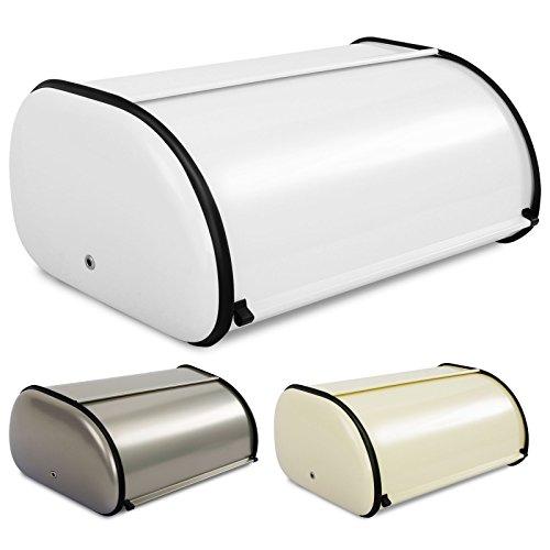 casa pura® Brotkasten Bernd | lebensmittelechte Brotaufbewahrung | Brotbox mit Belüftungslöchern | 3 Farben (weiß)