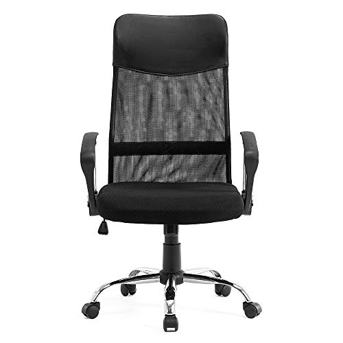 STmeng Liberty T36 Ergonomic Mesh Office Chair, Adjustable Height Computer Gaming Chair with Swivel Back Support Headrest and 3D Armrest, Breathable Padded Seat Home Work Desk Chairs, Black