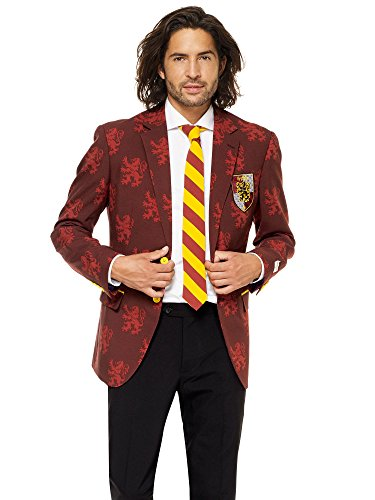 OppoSuits Gryffindor Men's Suit of Official Harry Potter™ Costume Comes with Pants, Jacket And Tie