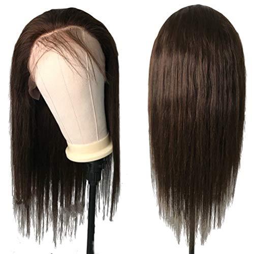 Femmes Brun foncé Brésilien Remy Lace Front humain Perruques for les femmes Nœuds Blanchis pour les femmes Cosplay Party (Color : 150 Density 13x4 Wig
