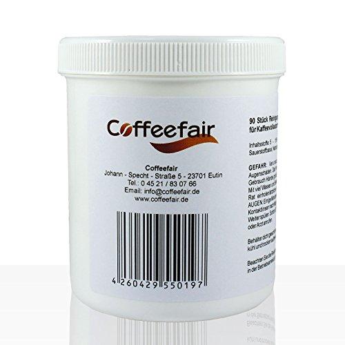 Coffeefair Reinigungstabletten 90 x 3g | Reinigungs-Tabs für Thermoplan, Saeco