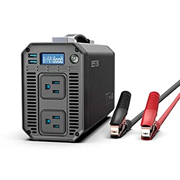 BESTEK 1200W Power Inverter DC 12V to 110V AC Converter with Digital LCD Display 4.2A Dual USB Car Charger