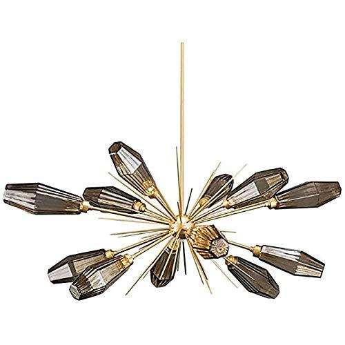 PLAYH Lámpara Sputnik De 12 Luces, Lámpara Colgante, Lámpara De Techo LED Starburst, Decoración Creativa, Chapado En Latón, Iluminación De Sala De Estar, Lámpara De Techo/Lámpara G9 Dorado