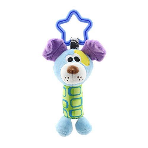 Colgante de torno para animales pequeños, Colgante para cochecito de mono feliz Juguete cómodo 0-1 Cama colgante para coche Colgante de mano para animales Carrito de sonajero Juguete cómodo (Cachorro)