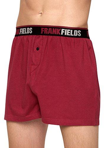 Frank Fields Herren Boxershorts aus Baumwolle, 4 Stück, Größe:7, Farbe:weinrot