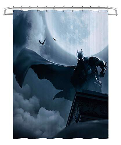 KKASD 3D Duschvorhang Batman Badezimmer wasserdicht & schimmelresistent Duschvorhang für Badewanne & Duschkabine 180x180cm