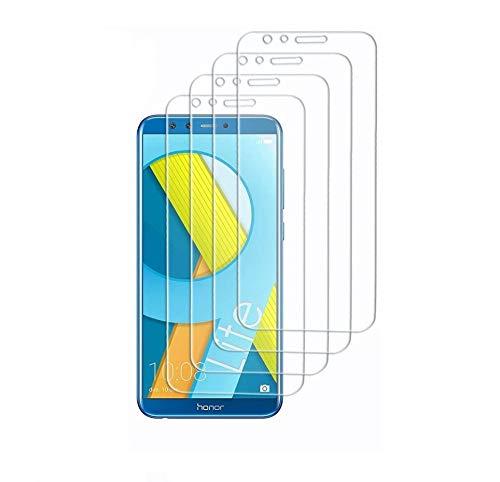 Didisky Pellicola Protettiva in Vetro Temperato per Huawei Honor 9 Lite, [4 Pezzi] Protezione Schermo [Tocco Morbido ] Facile da Pulire, Facile da installare, Trasparente