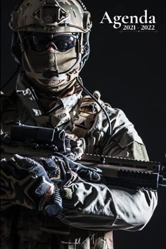 Agenda Escolar 2021-2022: Militar   Agenda semanal tamaño A5 para estudiantes, profesionales y particulares - (de agosto 2021 a julio 2022)