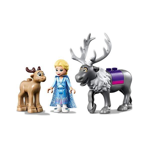 LEGO-Frozen-LAvventura-sul-Carro-di-Elsa-41166-Carica-il-Carretto-e-Recati-nel-Paese-delle-Meraviglie-di-Disney-Frozen-II-con-Elsa-e-Sven-la-renna-Set-di-Costruzioni-per-Bambini-4-Anni