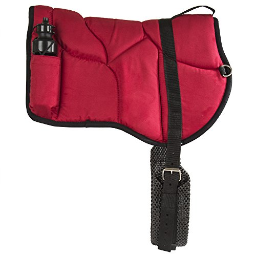 Best Friend Western Style Bareback Saddle Pad, Red
