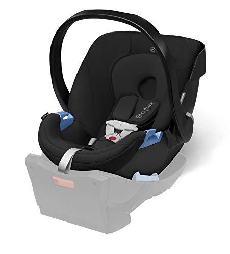 Cybex Silver - Portabebé Aton, en contra de la marcha, incluye reductor para recién nacido, desde el nacimiento hasta aprox. 18 meses, max. 13 kg, blue moon