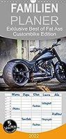 Exklusive Best of Fat Ass Custombike Edition, feinste Harleys mit fettem Hintern - Familienplaner hoch (Wandkalender 2022 , 21 cm x 45 cm, hoch): Exklusiver Best of Custombike Kalender mit der Fat Ass Edition einiger der wohl schoensten Harley-Davidson Umbauten (Monatskalender, 14 Seiten )