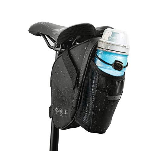CCKOLE Satteltasche Fahrrad Satteltaschen Wasserdicht, Fahrradtasche Hecktasche reißfeste, MTB Rennrad Tasche für Mountainbike Rennrad mit Wasserflaschentasche (1.5L)