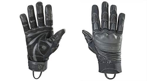 Kinetixx X-Tep Taktische Handschuhe (Größe 9, schnittfest, feuerfest, wasserfest, Leder, 1 Paar) schwarz