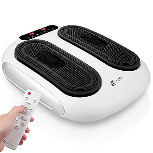 Máquina masajeadora de pies con vibración Kanff, masajeador de piernas y pies con vibración eléctrica con acupresión giratoria y control remoto para circulación y relajaciones múltiples