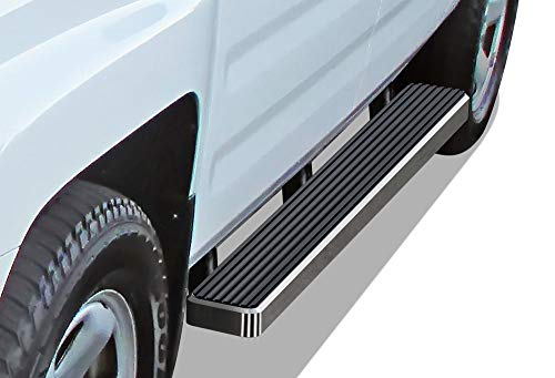 APS iBoard Running Boards (Nerf Bars Side Steps Step Bars) Compatible with 2006-2014 Honda Ridgeline Crew Cab Pickup 4-Door (Silver 5 inches)