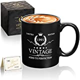 30th Birthday Gifts for Men Women Mugs-30th Birthday Decorations for Him-30th Anniversary Ideas Gifts for Him,Dad, ,Mon,Wife,Husband-Vintage 1991 11oz Coffee Mugs Gifts Born in 1991 30 Year Old Gifts