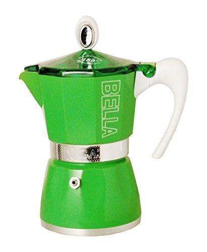 European Gift & Houseware 10-4803 3 Cup Bella Stove-Top Espresso Makers, Tropics Green
