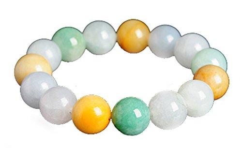 MPH-Jewelry, pulsera de cuentas de jadeita natural, 12 mm, multicolor, comprar uno para uno