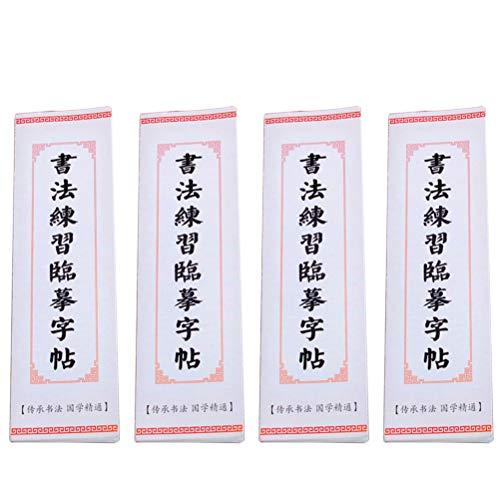 Práctica de caligrafía Copiar Copybook Card Ouyang Xun Wang Xizi Liu Gongquan Yan Zhenqing Copying Copybook (4 copias/Set)