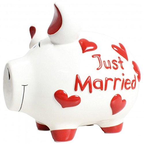 KCG Spardose Sparschwein Mittelschwein Just Married