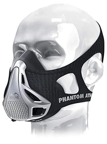 Phantom Athletics Training Mask - Aumente su Rendimiento en el Deporte - Plateado - M