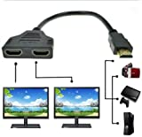 Sunday HDMI 2 Split Double Signal Adapter Convert Cable for Sending Video to TV HDTV