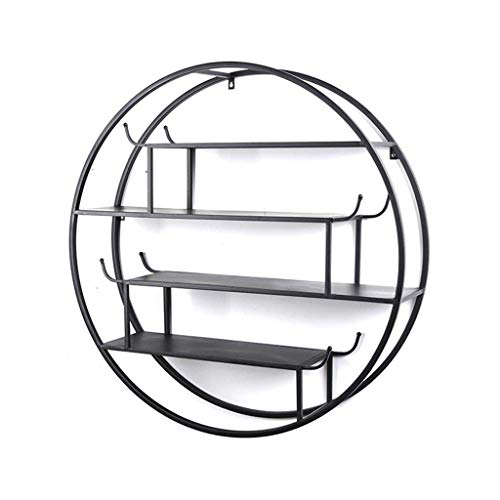 Retro ronde ijzeren wandplank voor bar/keuken/woonkamer/slaapkamer voor boekenplank opslag decoratief display Rack Loft industriële stijl drijvende eenheid frame wijnglas rack