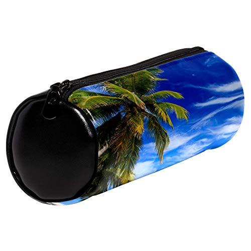 Silla Coconut Palm Beach Estuche de lápices bolsa de soporte para bolígrafos bolsa de gran capacidad para adultos de secundaria escuela secundaria oficina de adultos