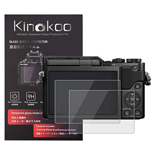 kinokoo Gehärtetes Glas für Panasonic GX800/GX850/GF9/GF8 Kristallklarer Film Panasonic GX800 GX850 GF9 GF8 Displayschutzfolie Blasenfrei/Kratzfest(2er Pack)